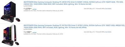 На Amazon замечены ПК с видеокартами GeForce GTX 1660 Ti